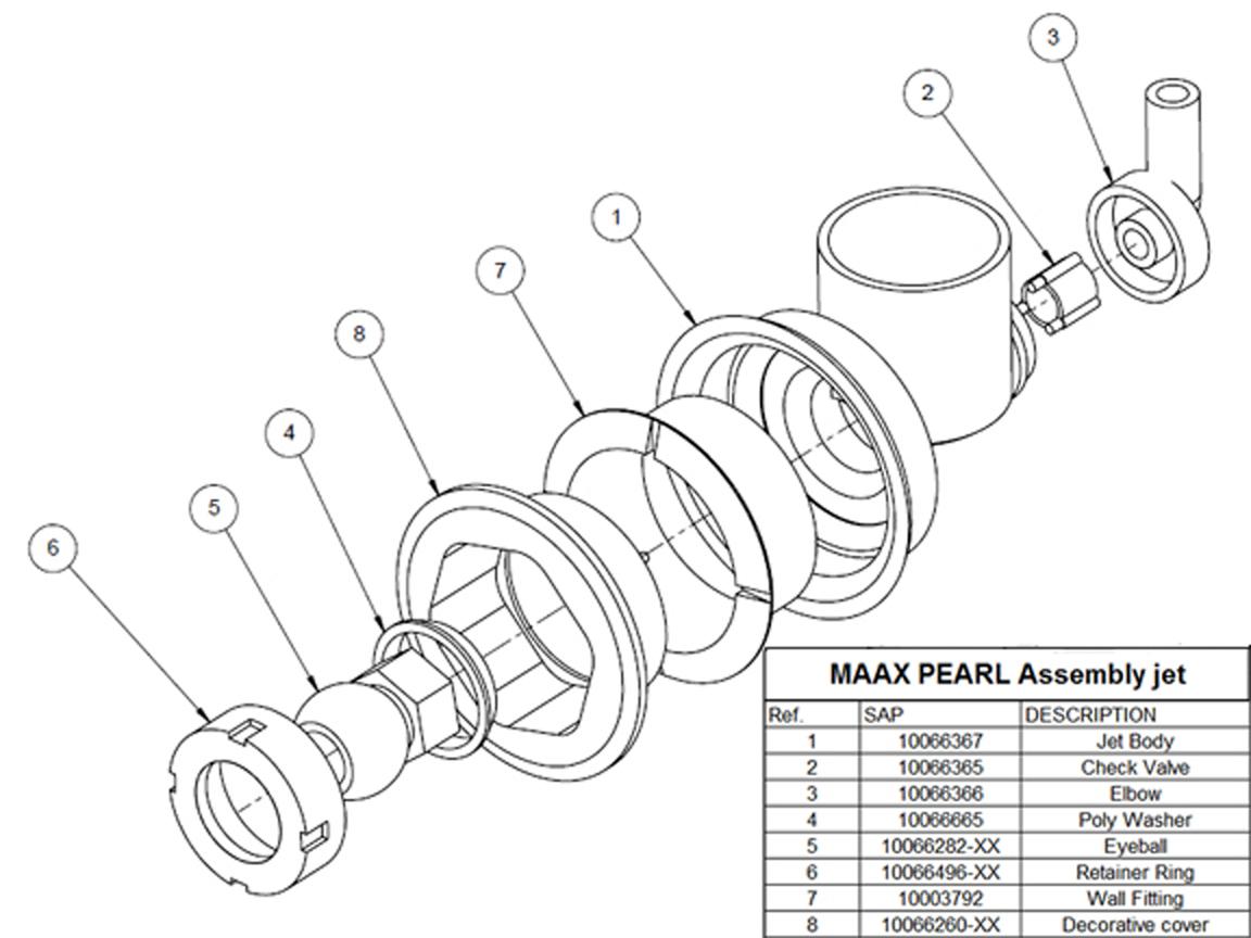 Jetsetc.com Online Store - MAAX® PEARLPower jet assembly